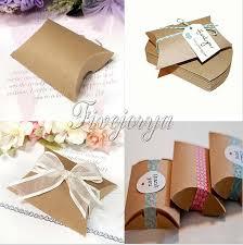 wedding candy boxes wholesale 100pieces lot kraft pillow shape wedding favor gift box party