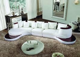 living room modern leather sectional sofa ipod iphone dock with