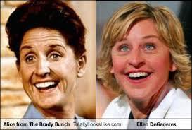 Ellen Meme - the brady bunch meme alice looks like ellen on bingememe