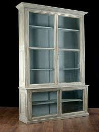White Bookshelf With Glass Doors Furniture Bookcase With Glass Doors To Keeps Your Favorite Items