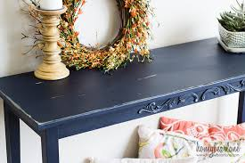 Blue Console Table Easy Console Table Makeover Honeybear