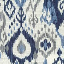 light blue gray navy ikat with light blue gray cream by stout swelter swel 1