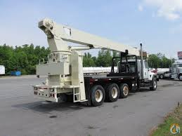crane 900a straight boom on 2004 international 7500 tri axle truck