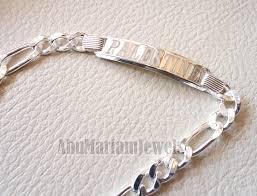 man silver bracelet jewelry images Men silver bracelet palestine laser engraving or any personalized JPG