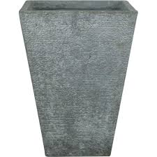 Concrete Planters Home Depot by Pride Garden Products Origins Collection Vela 12 In X 16 In