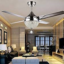 bedroom ceiling fans with lights rainierlight modern crystal ceiling fan l led 3 changing light 4