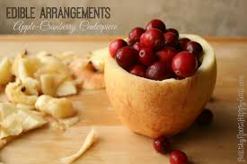 food arrangements naturally loriel edible arrangements apple cranberry centerpiece