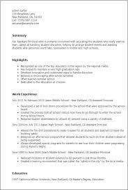 Resume Examples For Jobs For Students by Professional Assistant Principal Templates To Showcase Your Talent