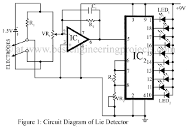 lie detector circuit diagram verified electronics projects