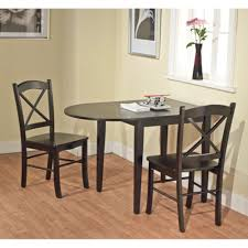 amazon com tiffany 3 piece dining set finish black table