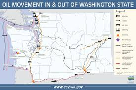 Tacoma Washington Map by Oil Transportation Maps Spills Program Washington State