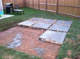 Backyard Concrete Slab Collection In Easy Patio Ideas On A Budget Diy Concrete Slab Home