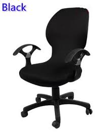 computer chair covers black colour lycra computer chair cover fit for office chair with