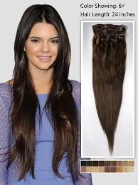 24 inch extensions 24 inch chestnut brown human hair extension 135g uss624 vpfashion