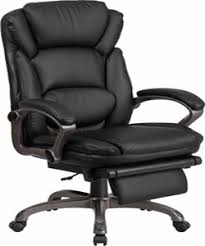 Swivel Chair High Back Black Leather Executive Reclining Swivel Chair With Arms
