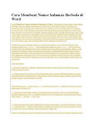 cara membuat nomor halaman yang berbeda di word 2013 1524422296 v 1
