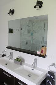 Custom Bathroom Mirror How To Install A Bathroom Mirror Without Brackets Bathroom