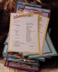 Kraft Paper Wedding Programs A Rustic Formal Wedding In Montana Martha Stewart Weddings
