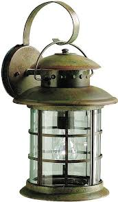Rustic Outdoor Wall Lighting Rustic Outdoor Wall Lighting Kichler 9761 Rustic Country 1