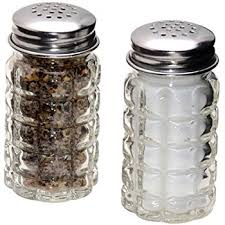 1 x glass salt pepper shaker set by greenbrier