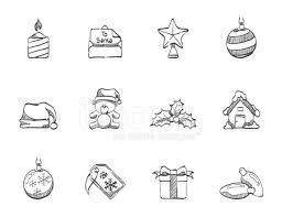 sketch icons more christmas stock vector freeimages com