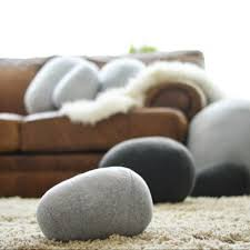 zen inspiration the original rock pillows pillows that look like rocks