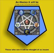 Israel Flag Illuminati Alcuin And Flutterby The Fall Of The Pentagram Five Illuminati