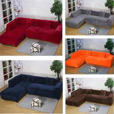 Sectional Sofa Cover 2seats 3seats Plush Stretch Sure Fit L Shaped Sectional Sofa