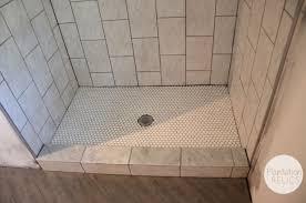 gray mosaic marble wall tile paneling walk in bathroom shower
