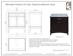 30 Inch Single Sink Bathroom Vanity by Water Creation Manhattan30 Manhattan Collection 30 Inch 31 Inch