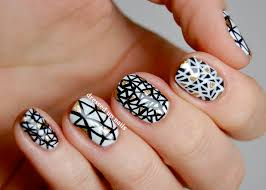 black and white triangle nail art pictures photos and images for
