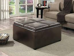 Black Storage Ottoman With Tray Coffee Table Storage Ottoman With Tray Medium Size Of Coffee