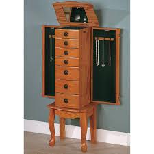 Jewelry Armoire Clearance Coaster Furniture 900135 Jewelry Armoire In Classic Oak