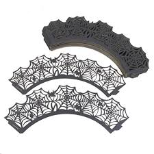 fashionclubs halloween party spiderweb laser cut paper cupcake
