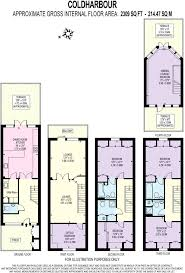 The O2 Floor Plan 5 Bedroom Terraced House For Sale In Cold Harbour Isle Of Dogs