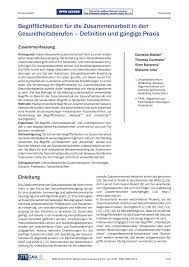 terminology for interprofessional collaboration definition and