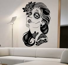 day of the dead home decor amazon com day of the dead wall decal roses vinyl art home decor