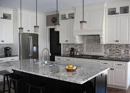 modern backsplash ideas for kitchen the kitchen design white ice granite countertops white cabinets modern backsplash