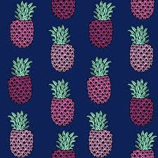 pineapple fabric pineapples fruit fruits summer tropical design
