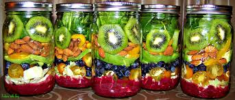 Meals In A Jar by Paradise In A Jar Salad With Blueberry Lemon Dressing Produce