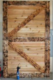 Large Barn Diy Barn Door With Burned Wood Finish Perfect For Large Openings