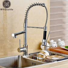 kitchen sink faucets reviews luxier pull single handle kitchen faucet reviews wayfair in