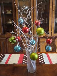 blurred glass vase decorations centerpieces for christmas dining