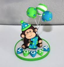 monkey cake topper monkey cake topper you design di kenzcreations su etsy ceramics