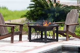 Firepit Coffee Table Sense Cocktail Table Pit Hammer Tone