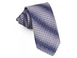 Trellis On Men U0027s Silk Rhinestone Tie Purple Wire Mesh Trellis On Gray Necktie