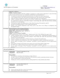 Sap Basis Resume Sample by Sap Fico Sample Resume 3 Years Experience 2740