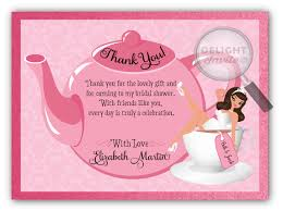 bridal shower thank you cards tea party bridal shower thank you cards di 1510ty harrison