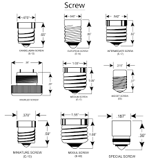 Led Light Bulb Conversion Chart by Light Bulb Light Bulb Base Sizes Stunning Design Various