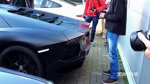 lamborghini aventador rev matte black lamborghini aventador rev acceleration loud exhaust